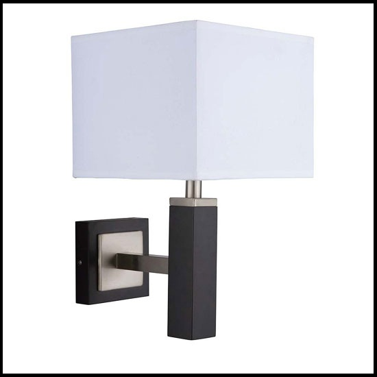 Square Wall Lamp Shades : Waverley Dark Wood Finish Wall Lamp With Square Fabric Shade - Buy Modern Wall Lights, Furniture ...
