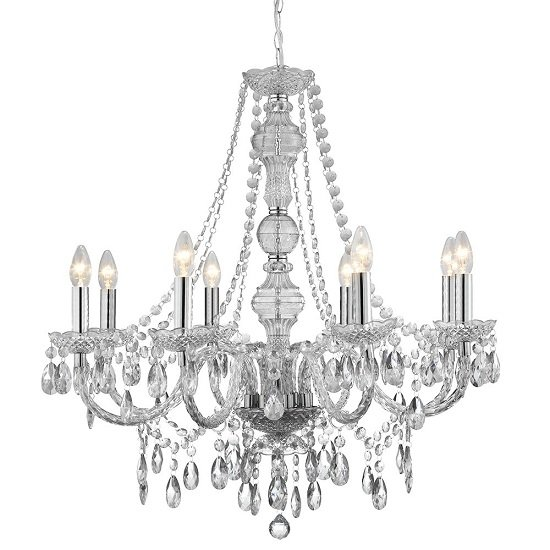 Marie Therese 8 Lamp Clear Chandelier Ceiling Light