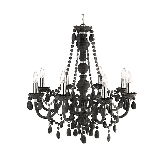 Marie Therese 8 Lamp Grey Chandelier Ceiling Light