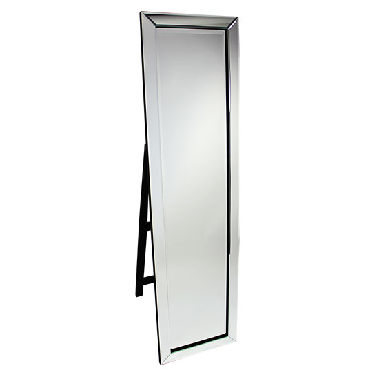 Bevelled Clear Corner Cut Frame Freestanding Mirror