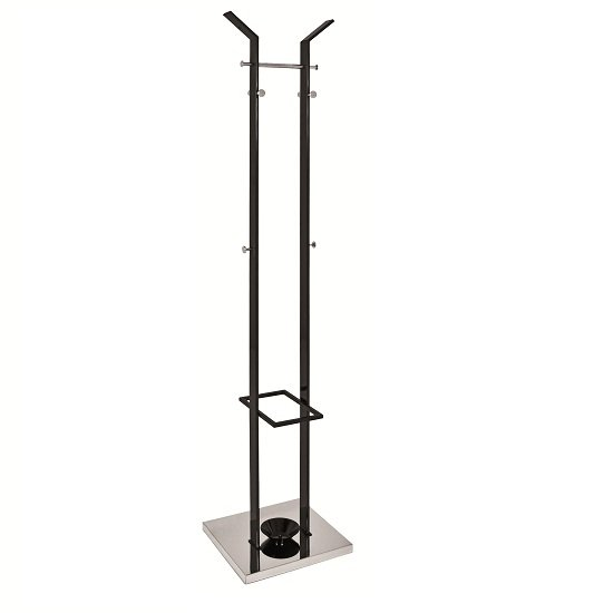 Marcel Coat Stand In Black High Gloss And Chrome