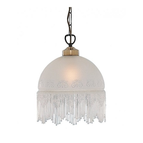 View Victoriana antique pendant lamp with brass coloured chain