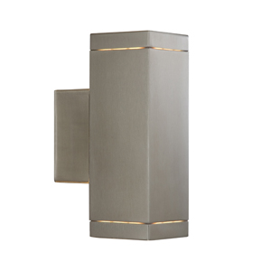 Outdoor Lighting Wall Lamp Satin Silver Finish