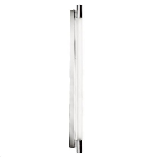 Poplar Bathroom Chrome Wall Light In Circular Glass