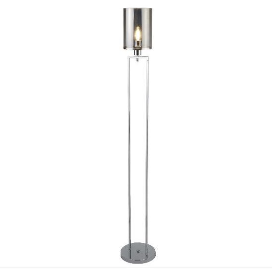 Catalina Chrome Floor Lamp In Smoked Glass Shades