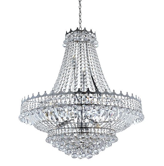 Versailles Chrome 13 Light Chandelier Trimmed With Crystal