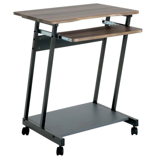 91842 walnut computer trolley - School Computer Room Furniture