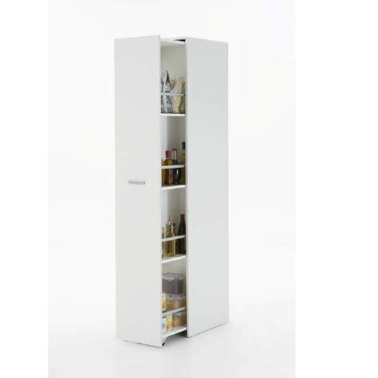Ronda1 Tall Storage Cabinet In White With 1 Door