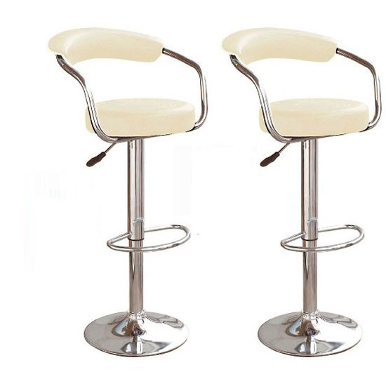 Zenith Bar Stools In Charcoal Grey Faux Leather in A Pair 25 : 95283X2 65zenith stools cream  from www.furnitureinfashion.net size 550 x 550 jpeg 25kB