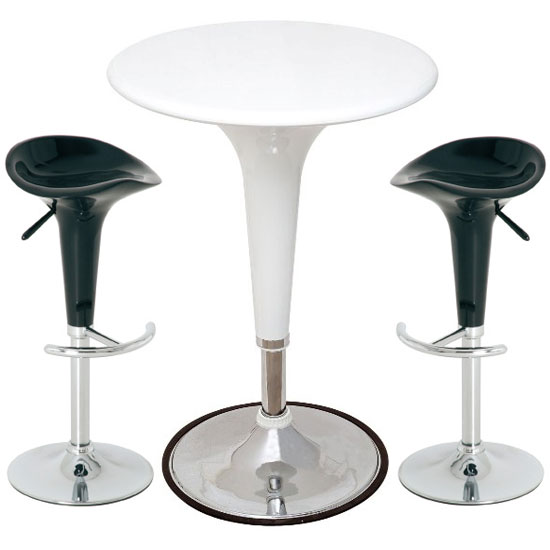 Ocean Black & White Bar Table Set