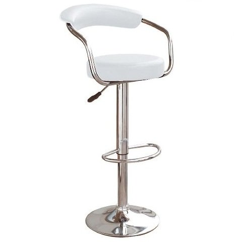 Zenith Kitchen Bar Stool In White with Gaslift Action