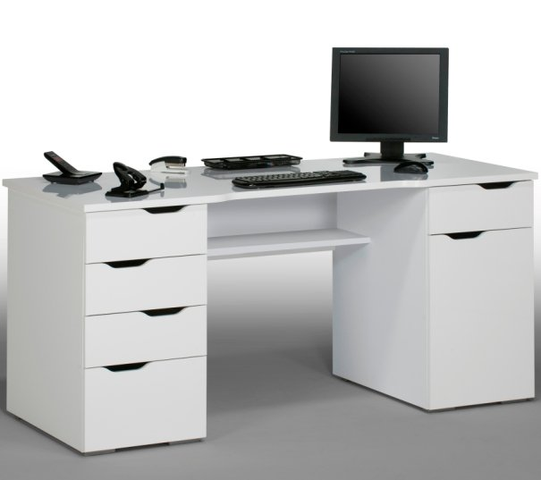 High Gloss Computer Desks Furniture In Fashion