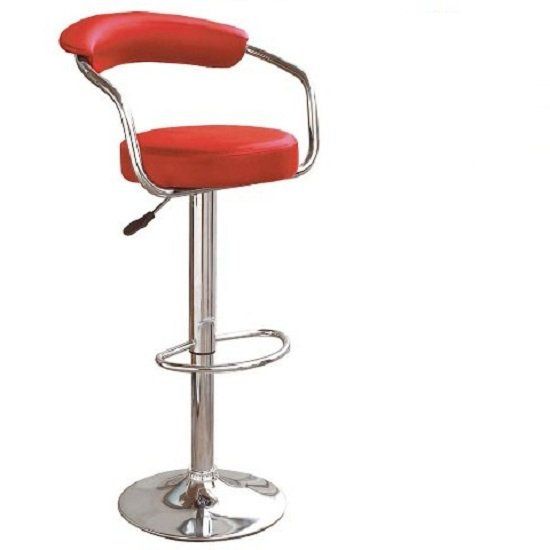 Zenith Kitchen Bar Stool In Red with Gaslift Action