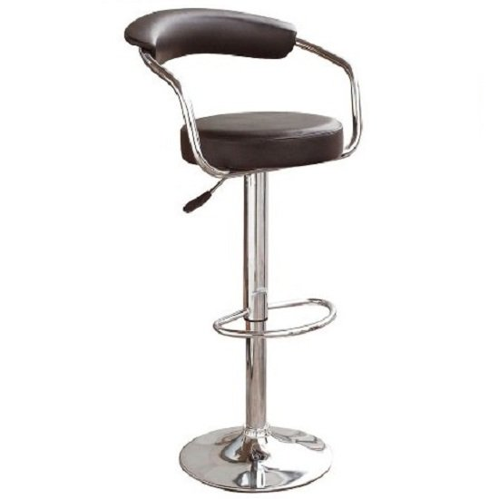 Zenith Kitchen Bar Stool In Black with Gaslift Action