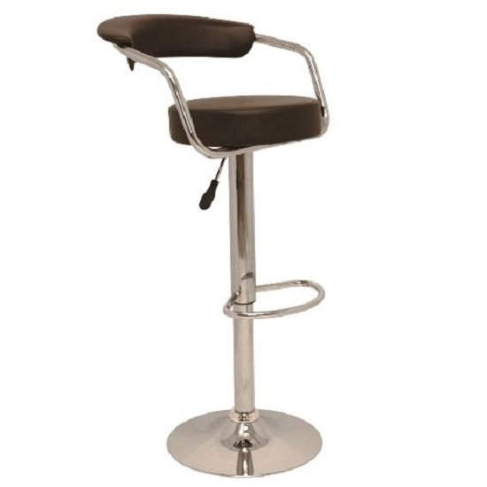 Zenith Kitchen Bar Stool In Brown with Gaslift Action