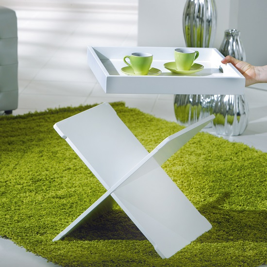 Moscow Side Table And Serving Tray In White_3