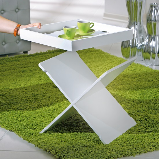 Moscow Side Table And Serving Tray In White_4
