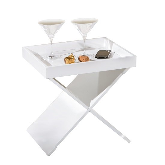 Moscow Side Table And Serving Tray In White_5