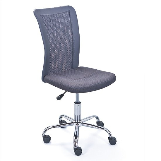 Bonnie Children Office Chair In Grey PU With Mesh Back_1