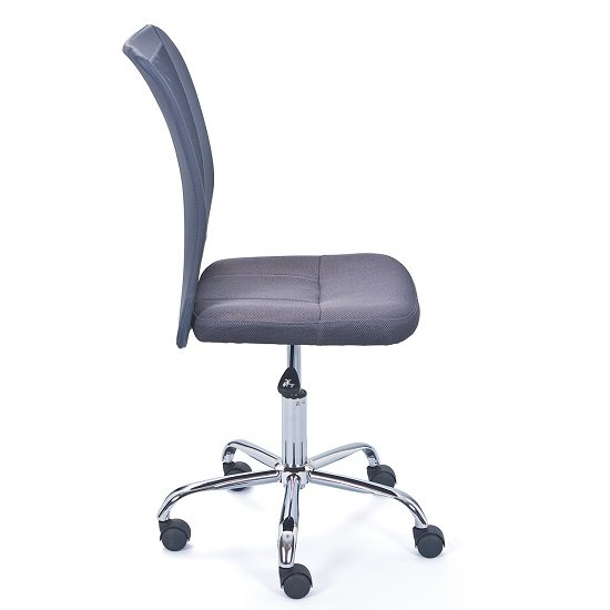 Bonnie Children Office Chair In Grey PU With Mesh Back_2