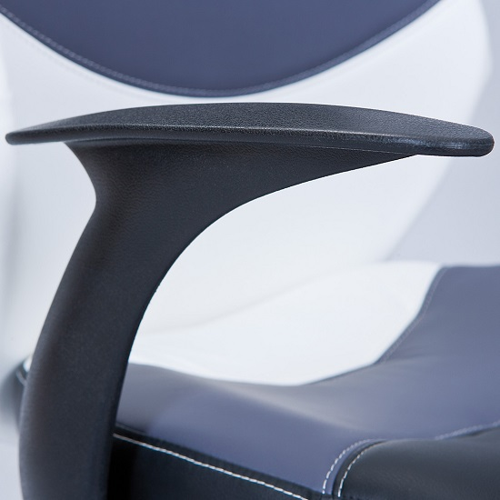 Carlow Office Chair In Faux Leather With Chrome Base And Castors_5