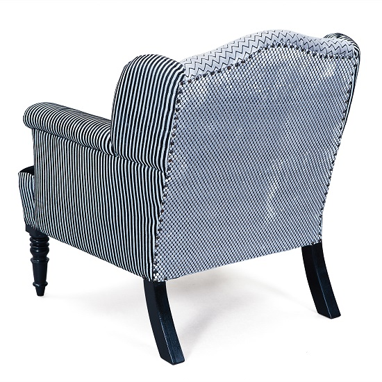 Torrent Sofa Chair In Fabric Velvet With Wooden Legs in Black_3