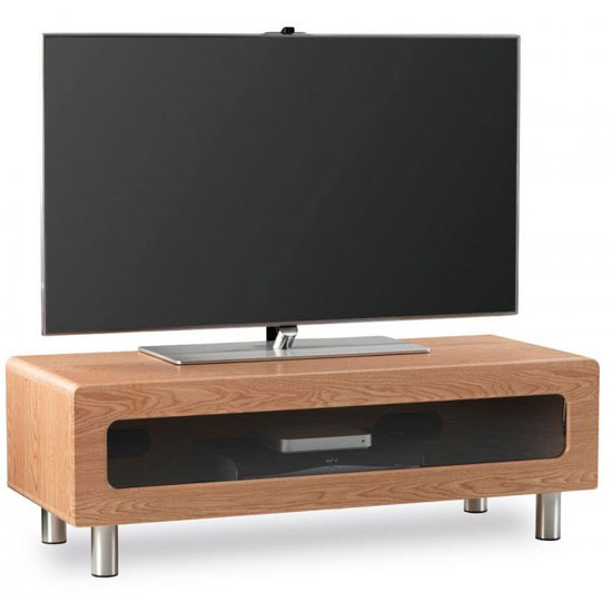 Ambri Light Oak Finish Plasma TV Stand With Drawer