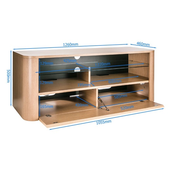 Hugo Modern Wooden TV Stand In White And Light Oak Finish_5