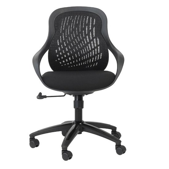 Croft Home And Office Chair In Black With Padded Seat