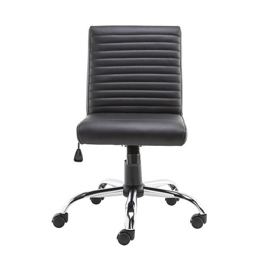 Laning Home And Office Chair In Black Faux Leather_1