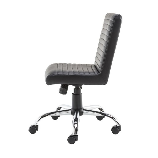 Laning Home And Office Chair In Black Faux Leather_3