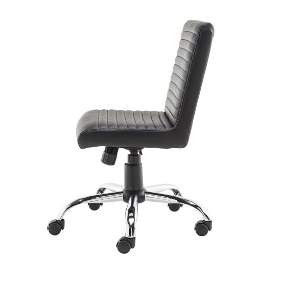 Laning Home And Office Chair In Black Faux Leather_4