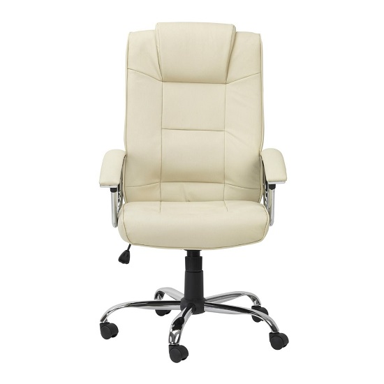 Hoaxing Office Executive Chair In Cream Finish