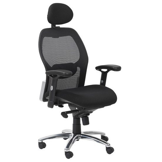 Premix Designer Mesh Home And Office Chair In Black_2