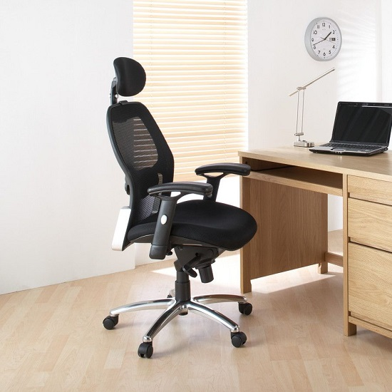 Premix Designer Mesh Home And Office Chair In Black_5