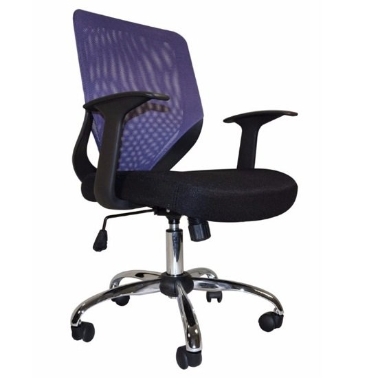Atlanta Home Office Chair In Black And Purple With Fabric Seat_2