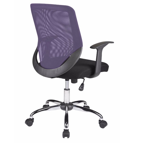 Atlanta Home Office Chair In Black And Purple With Fabric Seat_4