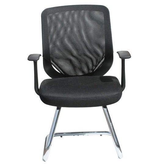 Atlanta Visitors Home And Office Chair In Black With Fabric Seat