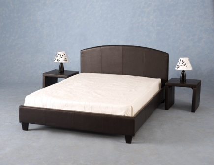 Apollo Modern Double Bed In Expresso Brown