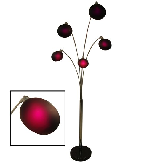 Aurora contemporary 5 arm arch floor lamps in purple 13302 for 5 arm floor lamp purple
