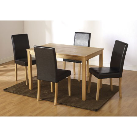 Wooden Dining Tables And 4 Chairs Furnitureinfashion UK