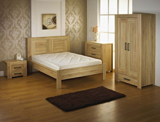 Liana Bedside Cabinet In Sonoma Oak With 2 Drawers