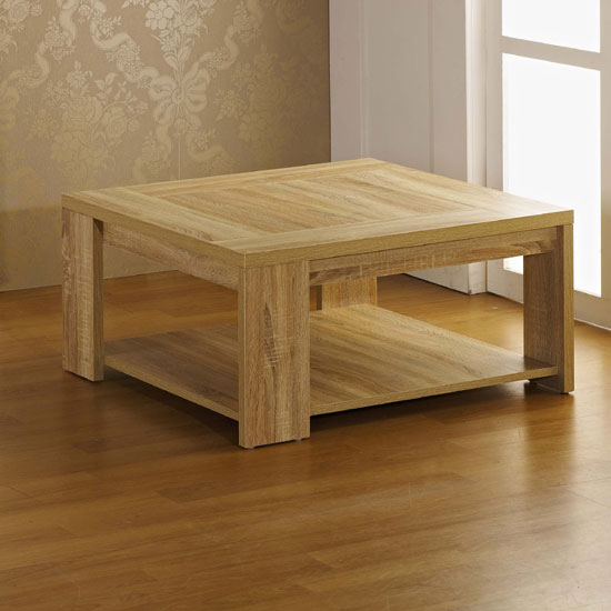 Liana Coffee Table In Sonoma Oak With Undershelf