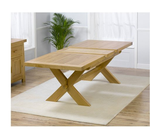 Carlotta Extending Solid Oak Waxed Dining Table