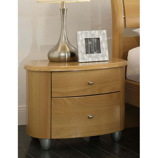 Zeta bedside cabinet in beech with 2 drawers buy bedside for Funky bedside cabinets