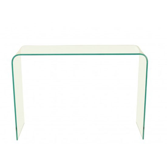 Azuria Clear Glass Finish Console Table