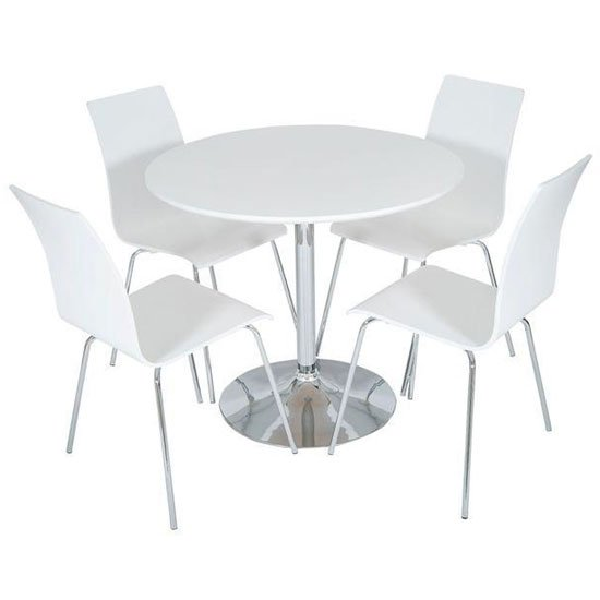 Actona Round White Dset50 W - Trendy Round Dining Tables: Examples For 5 Different Interiors