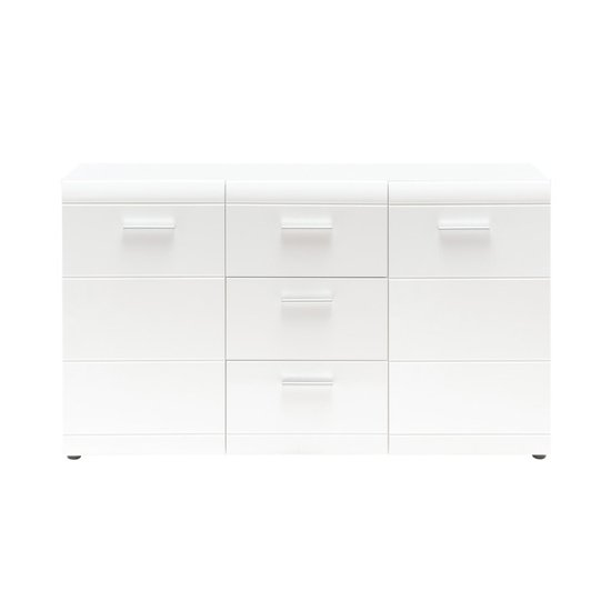 Adrian Sideboard In White With High Gloss Fronts And 2 Doors_2