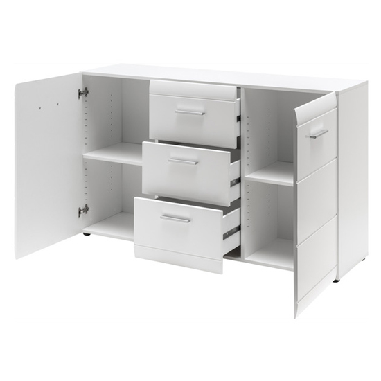 Adrian Sideboard In White With High Gloss Fronts And 2 Doors_3