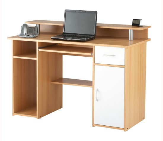 desks for bedrooms computer work station in beech effect 11425 11425